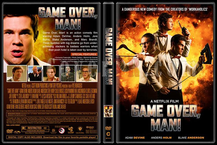 Game Over, Man! - Custom Dvd Cover - English [2018]-2jpg