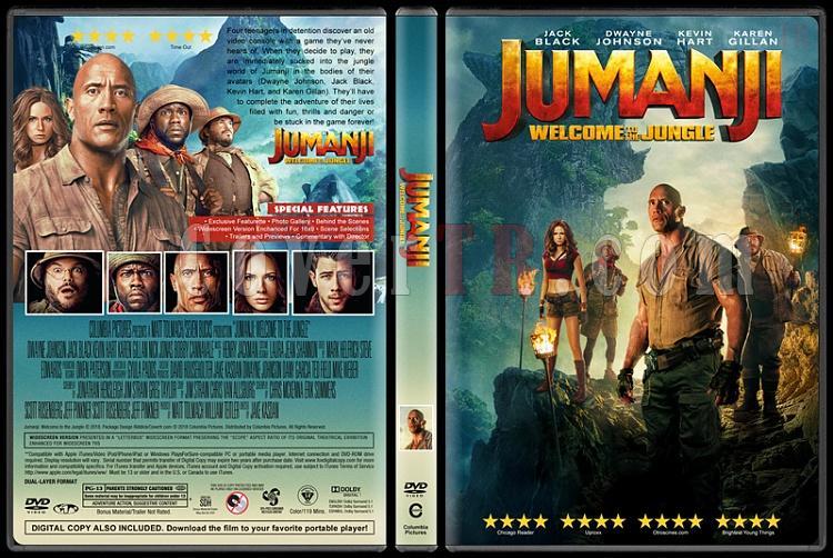 Jumanji: Welcome to the Jungle (Jumanji: Vahşi Orman) - Custom Dvd Cover - English [2017]-1jpg