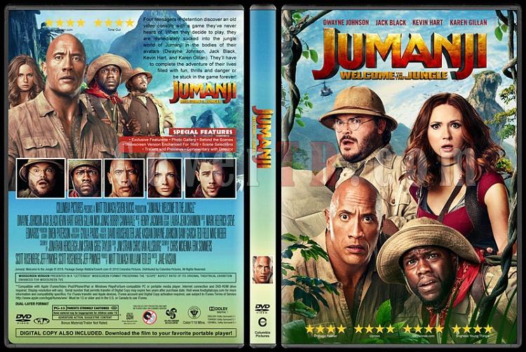 Jumanji: Welcome to the Jungle (Jumanji: Vahşi Orman) - Custom Dvd Cover - English [2017]-2jpg