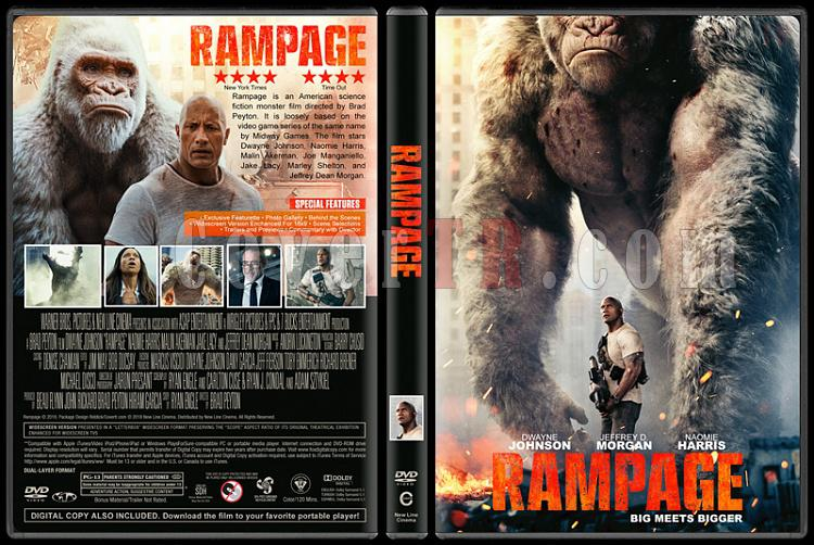 Rampage (Rampage: Büyük Yıkım) - Custom Dvd Cover - English [2018]-1jpg