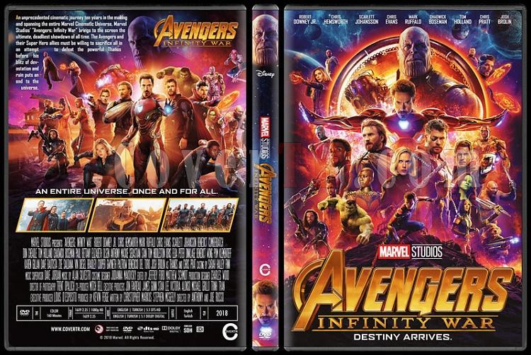 Avengers: Infinity War (Yenilmezler: Sonsuzluk Savaşı) - Custom Dvd Cover - English [2018]-1jpg