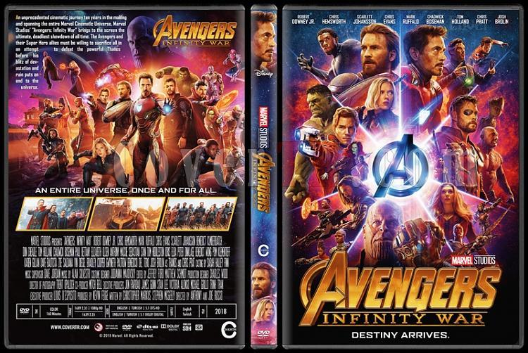 Avengers: Infinity War (Yenilmezler: Sonsuzluk Savaşı) - Custom Dvd Cover - English [2018]-2jpg
