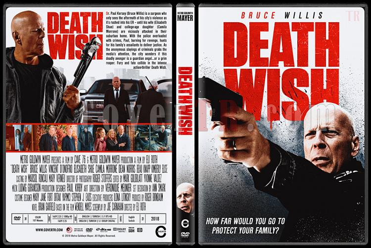Death Wish (Öldürme Arzusu) - Custom Dvd Cover - English [2018]-1jpg