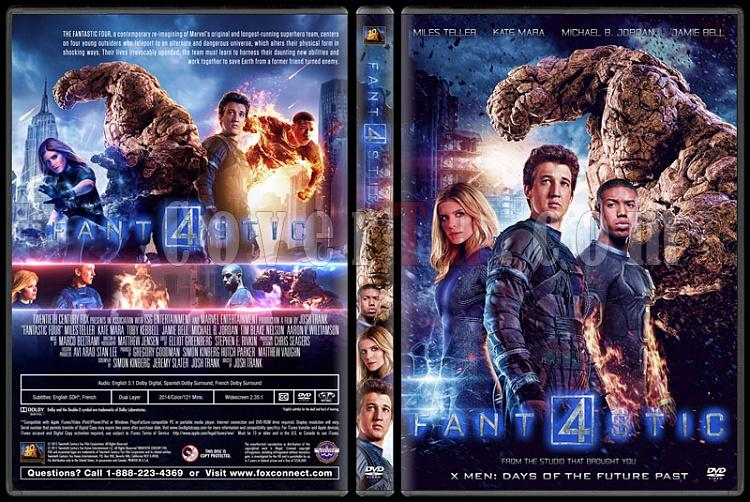 Fantastic Four (Fantastik Dörtlü) - Custom Dvd Cover - English [2015]-02jpg