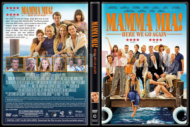 Mamma Mia! Here We Go Again (Mamma Mia! Yeniden Başlıyoruz) - Custom Dvd Cover - English [2018]-02jpg