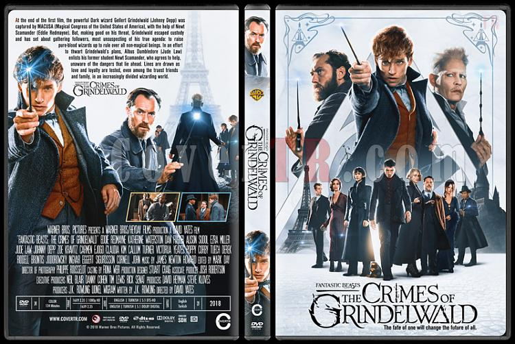 Fantastic Beasts: The Crimes of Grindelwald (Fantastik Canavarlar: Grindelwald'ın Suçları) - Custom Dvd Cover - English [2018]-2jpg
