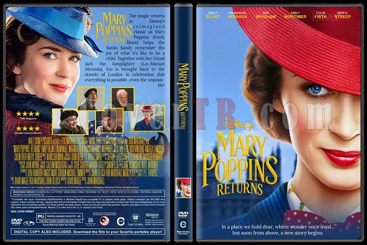 Mary Poppins Returns (Mary Poppins: Sihirli Dadı) - Custom Dvd Cover - English [2018]-2jpg