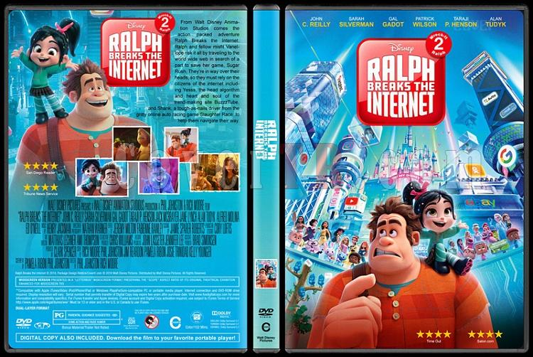 Ralph Breaks the Internet (Ralph ve İnternet) - Custom Dvd Cover - English [2018]-1jpg