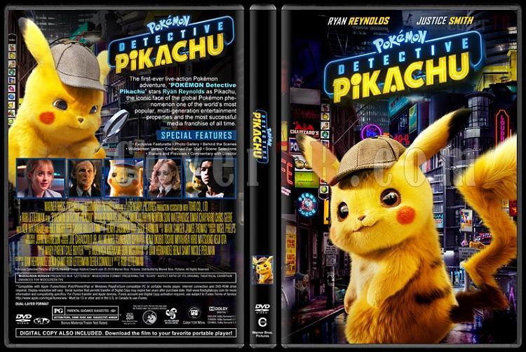 Pokémon Detective Pikachu (Pokémon Dedektif Pikachu) - Custom Dvd Cover - English [2019]-01jpg