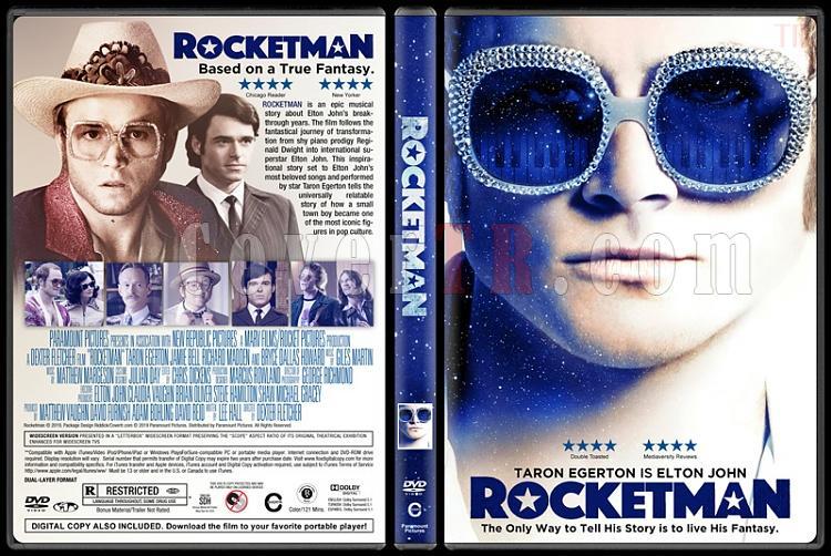 Rocketman - Custom Dvd Cover - English [2019]-03jpg