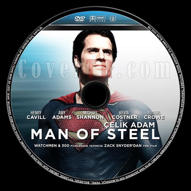 Man of Steel  (Çelik Adam) - Custom Dvd Label - Türkçe [2013]-man-steel-celik-adam-dvd-label-turkcejpg
