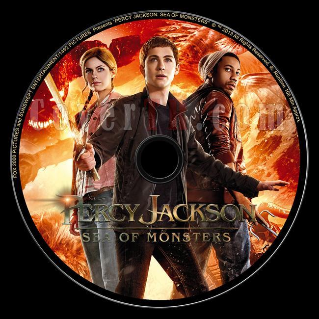 Percy Jackson Sea of Monsters (Percy Jackson Canavarlar Denizi) - Custom Dvd Label - English [2013]-kirmizi-versiyonjpg