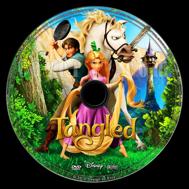 tangled - custom dvd label - english  2010