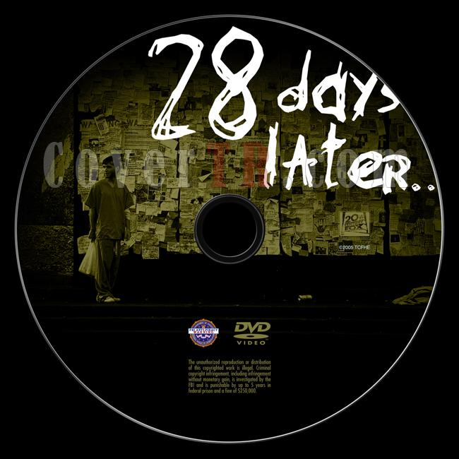 28 Days Later... - Custom Dvd Label - English [2002]-28-days-later-dvd-labeljpg