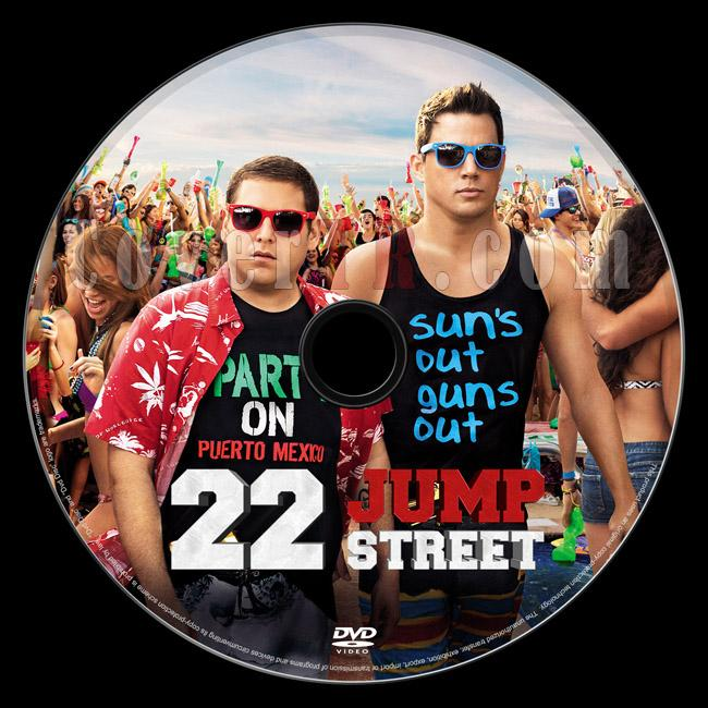 22 Jump Street (Liseli Polisler 2) - Custom Dvd Label - English [2014]-22-jump-street-dvd-label-riddickjpg