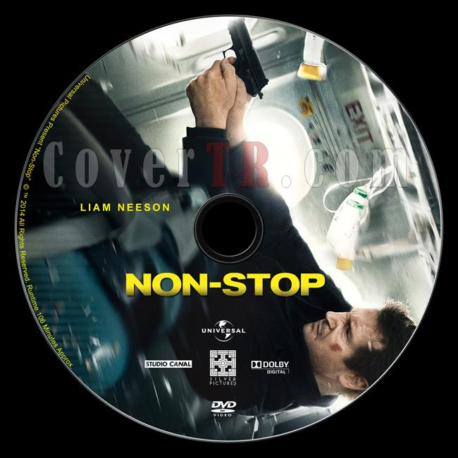 Non-Stop - Custom Dvd Label - English [2014]-non-stop-2014-dvd-labeljpg