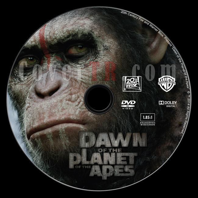 Dawn of the Planet of the Apes (Maymunlar Cehennemi: Şafak Vakti) Custom Dvd Label - English [2014]-dawn-planet-apesjpg