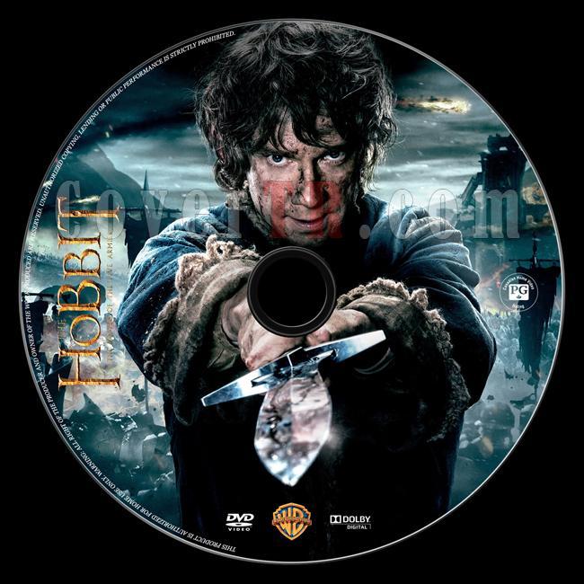 The Hobbit: The Battle of Five Armies (Hobbit: Beş Ordunun Savaşı) - Custom Dvd Label - English [2014]-onizlemejpg
