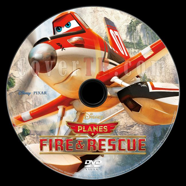 Planes: Fire & Rescue (Uçaklar: Söndür ve Kurtar) - Custom Dvd Label - English [2014]-onizlemejpg
