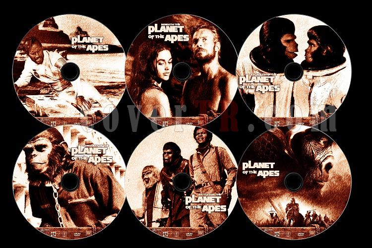 Planet Of The Apes Collection - Custom Dvd Label Set - English [1968-]-0jpg
