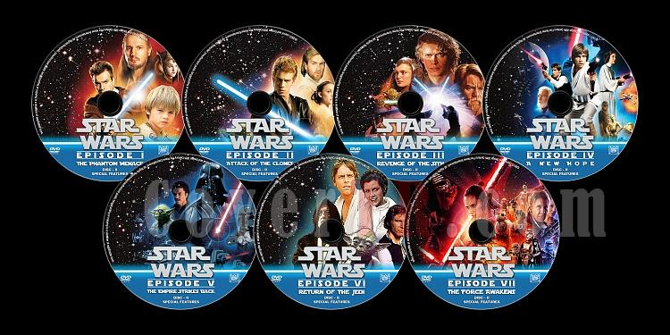 Star Wars Collection (Disc II: Spical Features) - Custom Dvd Label Set - English [1977-2015]-sfjpg