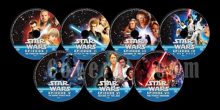 Star Wars Collection - Custom Dvd Label Set - English [1977-2015]-dvdjpg