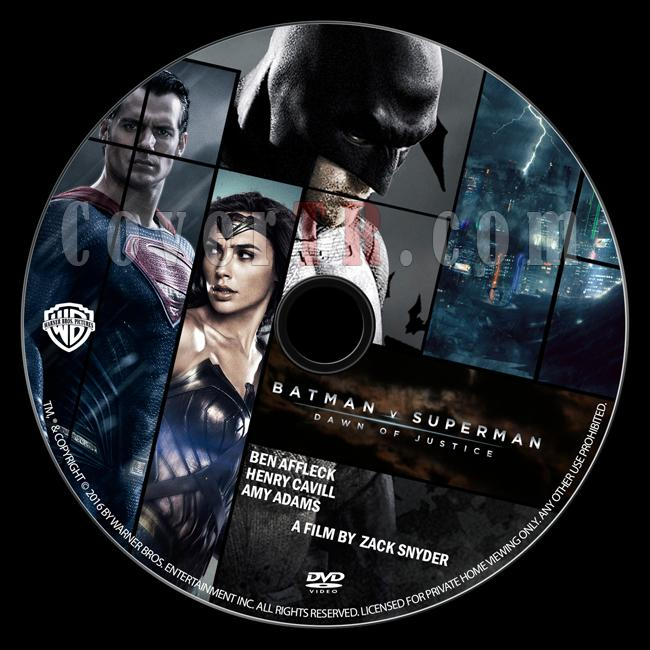 Batman v Superman: Dawn of Justice - Custom Dvd Label - English [2016]-batman-v-superman-dawn-justice-dvd-labeljpg