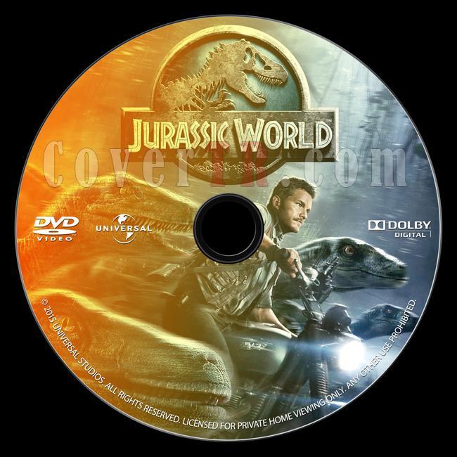 Jurassic World (Jurassic Park 4) - Custom Dvd Label - English [2015]-onizlemejpg