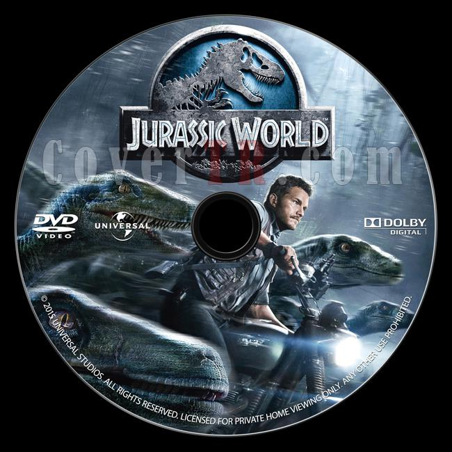 Jurassic World (Jurassic Park 4) - Custom Dvd Label - English [2015]-onizlemejpg