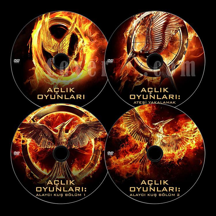 The Hunger Games Series (Açlık Oyunları Serisi) - Custom Dvd Label Set [2012-2015]-alljpg