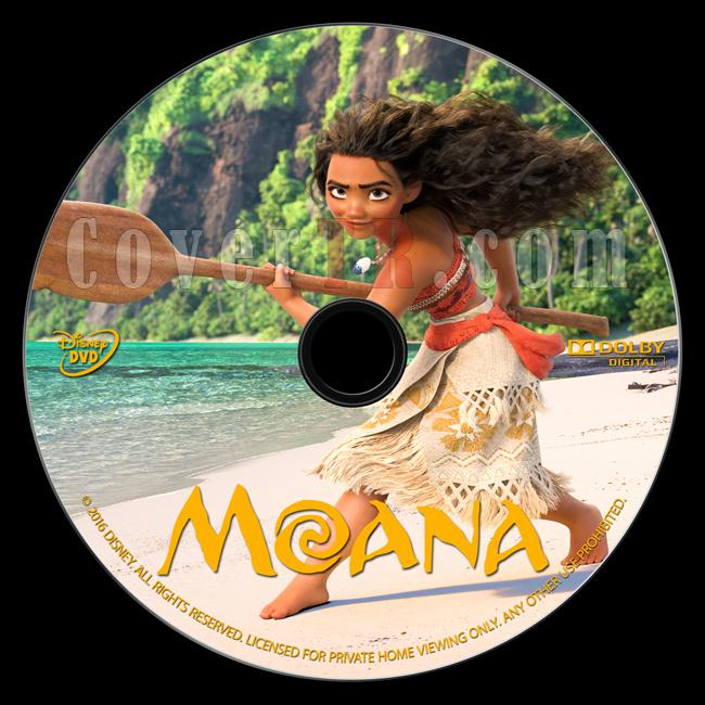 Moana - Custom Dvd Label - English [2016]-onizlemejpg