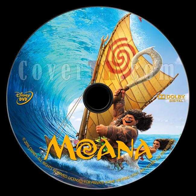 Moana - Custom Dvd Label - English [2016]-onizlemejpg