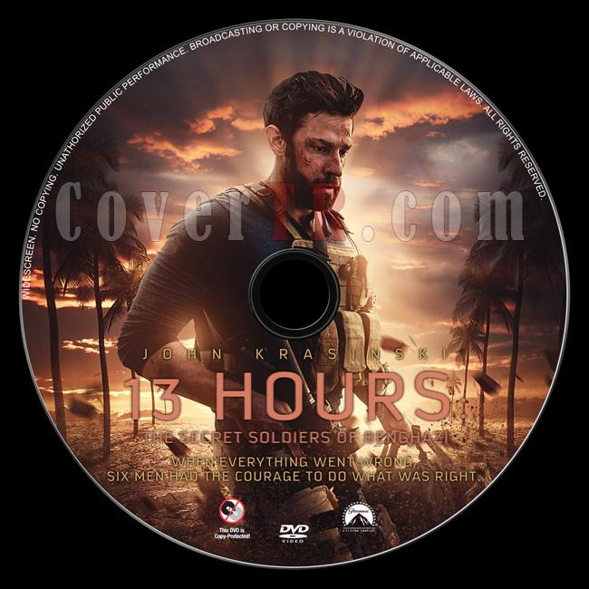 13 Hours: The Secret Soldiers of Benghazi - Custom Dvd Label - English [2016]-previewjpg