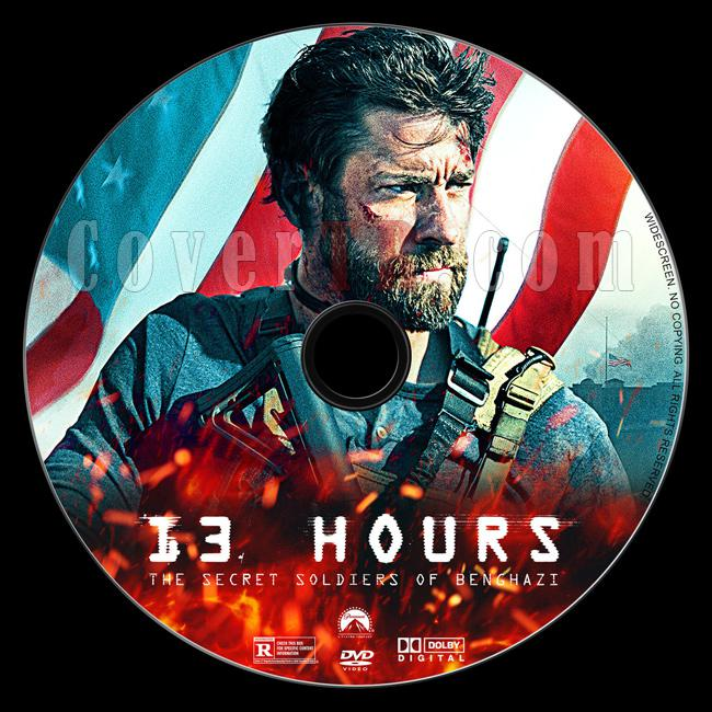13 Hours: The Secret Soldiers of Benghazi - Custom Dvd Label - English [2016]-dvdjpg