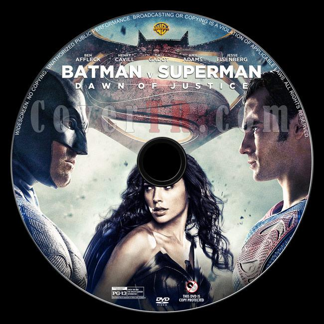Batman v Superman: Dawn of Justice - Custom Dvd Label - English [2016]-1jpg