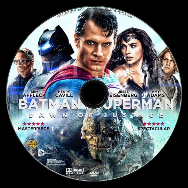 Batman v Superman: Dawn of Justice - Custom Dvd Label - English [2016]-3jpg