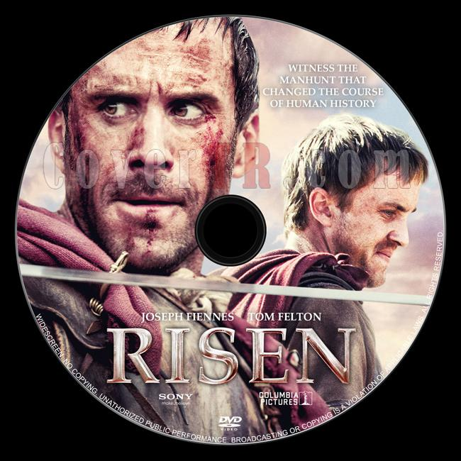 Risen - Custom Dvd Label - English [2016]-1jpg
