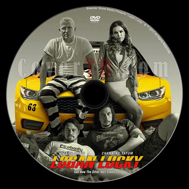 Logan Lucky (Şanslı Logan) - Custom Dvd Label - English [2017]-loganluckydvdlabelpreviewjpg