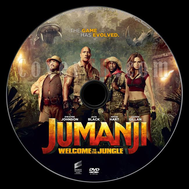 Jumanji: Welcome to the Jungle - Custom Dvd Label - English [2017]-d1jpg
