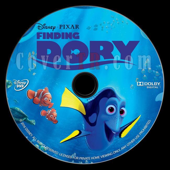 Finding Dory (Kayıp Balık Dori) - Custom Dvd Label - English [2016]-onizlemejpg