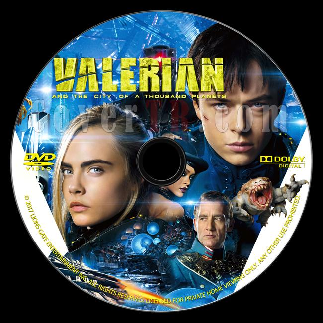 Valerian and the City of a Thousand Planets (Valerian ve Bin Gezegen İmparatorluğu) - Custom Dvd Label - English [2017]-onizlemejpg