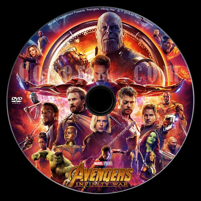 Avengers: Infinity War (Avengers: Sonsuzluk Savaşı) - Custom Dvd Label - English-2jpg
