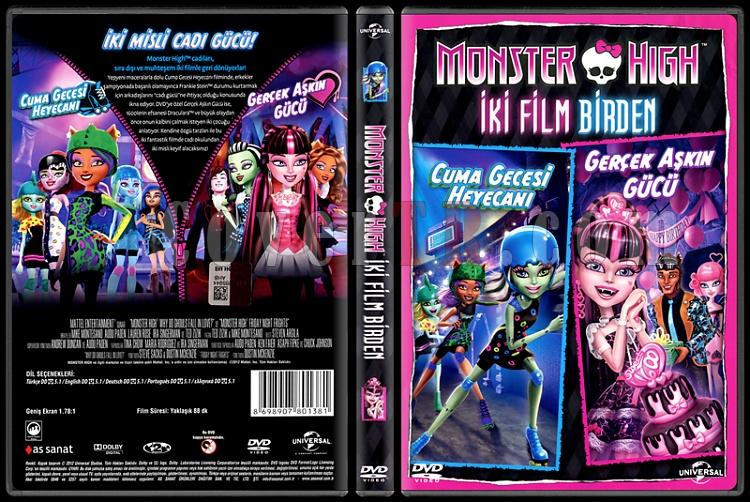 Monster High: Why Do Ghouls Fall in Love? / Friday Night Frights - Scan Dvd Cover Box Set - Türkçe [2011-2013]-monster-high-why-do-ghouls-fall-love-friday-night-frights-double-feature-scan-dvd-cover-bjpg