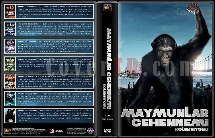 Maymunlar Cehennemi Koleksiyonu (1-7) - Custom Dvd Cover Box Set - Türkçe [1968-2011]-onizleme-bjpg