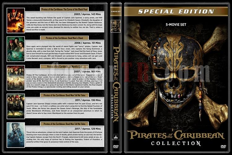 Pirates of the Caribbean Collection (Karayip Korsanları Koleksiyonu) - Custom Dvd Cover Box Set - English [2003-2017]-1jpg