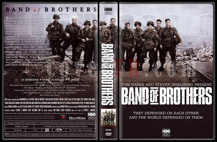 Band of Brothers (Kardeşler Takımı) - Custom Dvd Cover Box Set - English [2001]-bandjpg