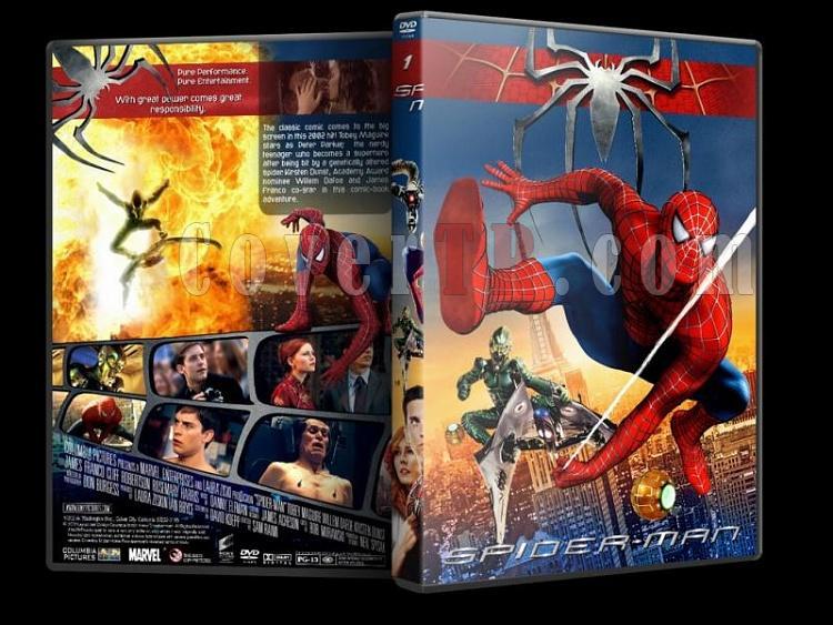 Spider-Man (Örümcek Adam) Trilogy - Custom Dvd Cover Set - English-spider-man-1-dvd-coverjpg