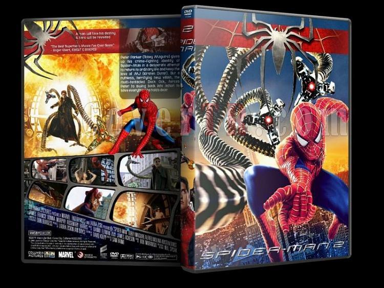 Spider-Man (Örümcek Adam) Trilogy - Custom Dvd Cover Set - English-spider-man-2-dvd-coverjpg