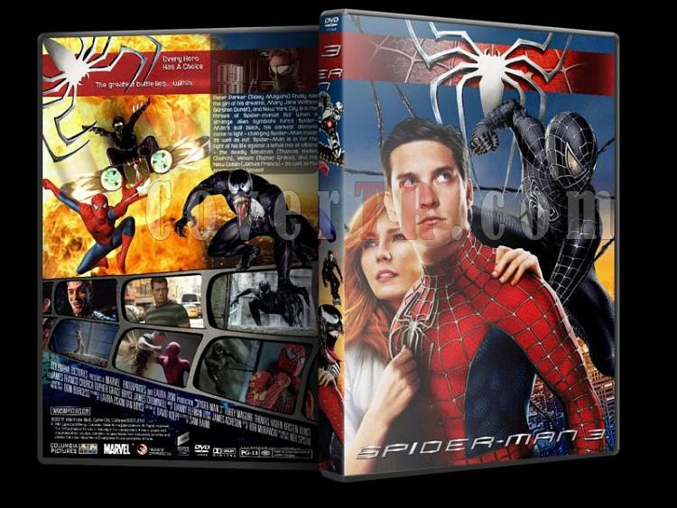 Spider-Man (Örümcek Adam) Trilogy - Custom Dvd Cover Set - English-spider-man-3-dvd-coverjpg