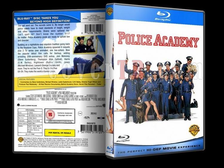 Police Academy (Polis Akademisi) - Custom Dvd Cover - English [1984-1994]-police-academy-bluray-disk-1jpg